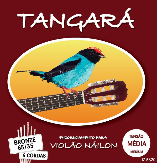 Encordoamento Violão Tangara 5320 Nylon Bronze 65/35 Tensao Media