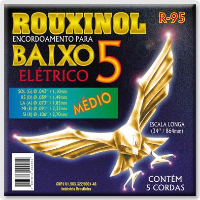 Encordoamento para Baixo Rouxinol  R95 5 Cordas
