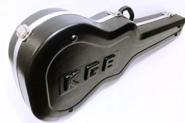 Estojo Case Violão Kgb Folk Fibra Formato Preto