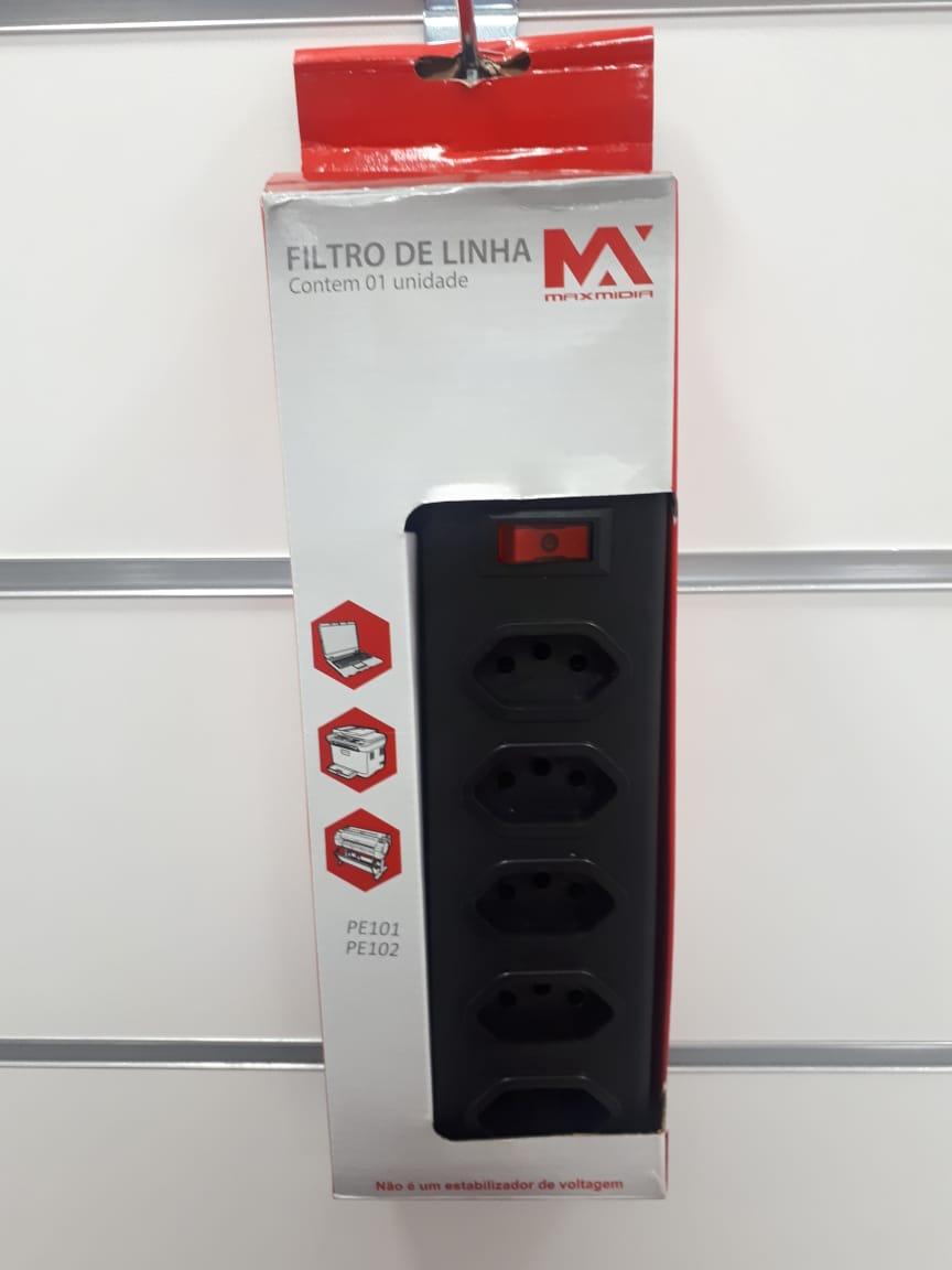 Extensão Multi tomadas elétricas 5T 2m Livstar MAX316035D