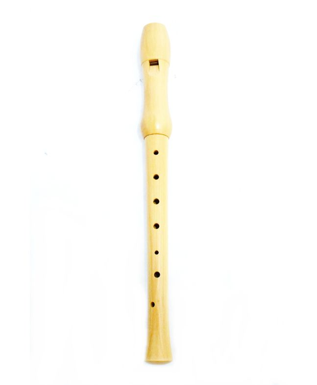 Flauta Doce Schienffer Schifdb Made Barroca C/ Estojo
