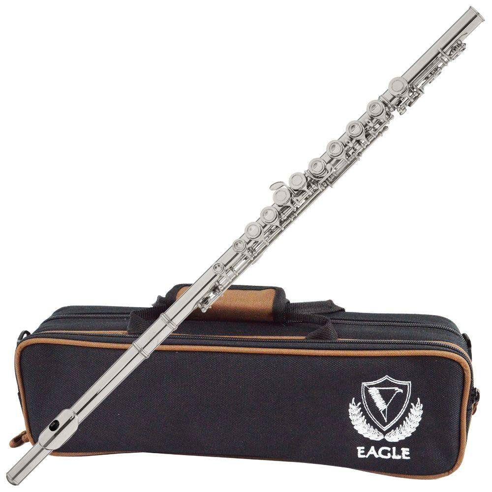 Flauta Transversal Eagle Fl05s Do C/Chave Mi Prateada