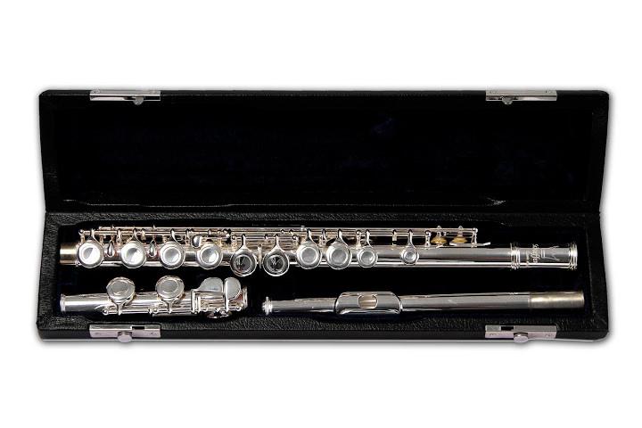 Flauta Transversal Transversal Schienffer SCHF001 Do Prateado