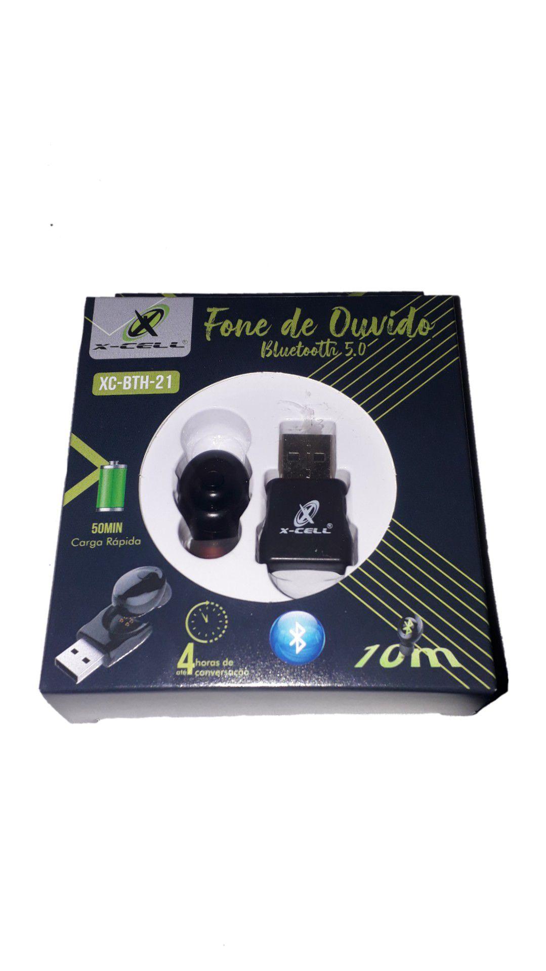 FONE DE OUVIDO XCELL BLUETOOH XC-BTH21 CARREGADOR USB