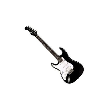 Guitarra Canhota Eagle Strato STS002E 2s 1h Preto