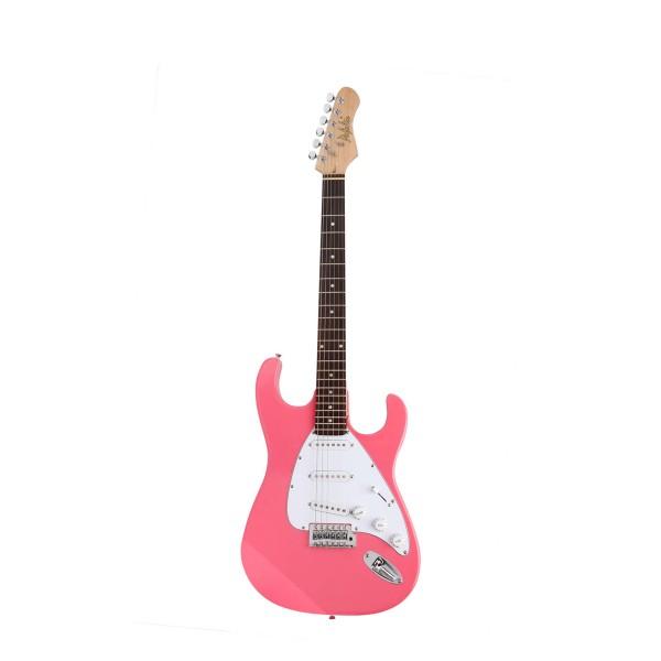 Guitarra Dolphin DGS05 7639 3S Strato Rosa