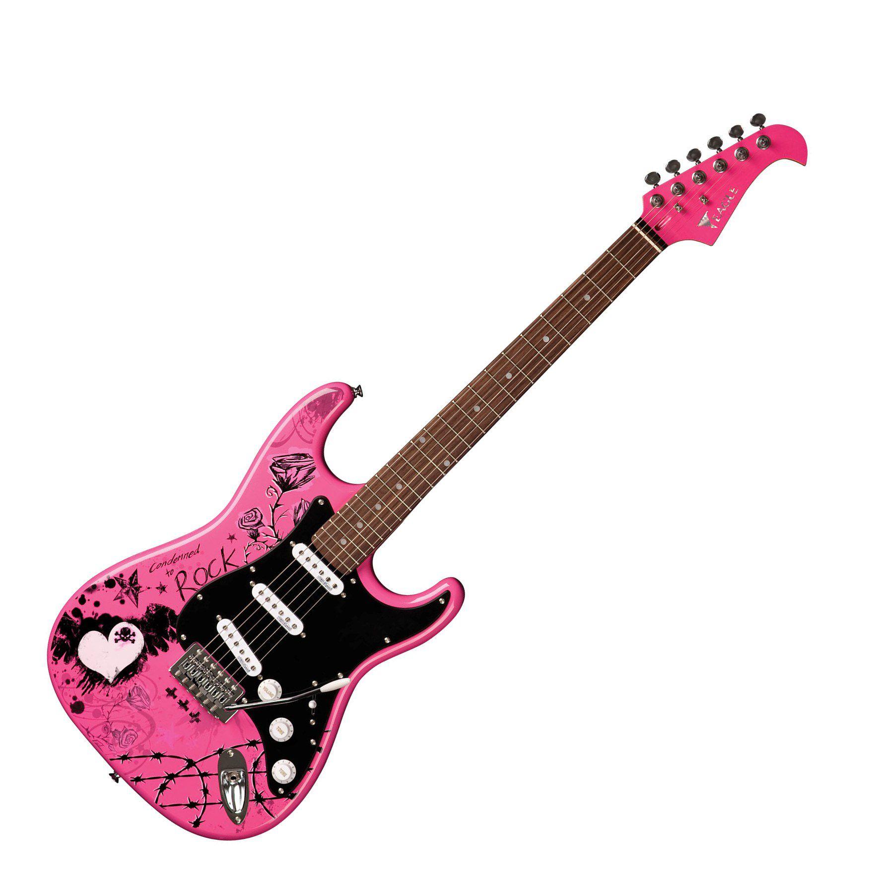 Guitarra Eagle Egp10 Crp Rock 3s Person.Strato Rosa