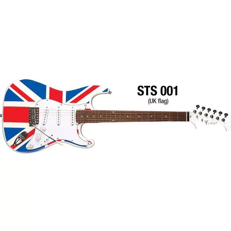 Guitarra Eagle Sts002 2s 1h Strato Band.uk Bandeira inglesa Saldo