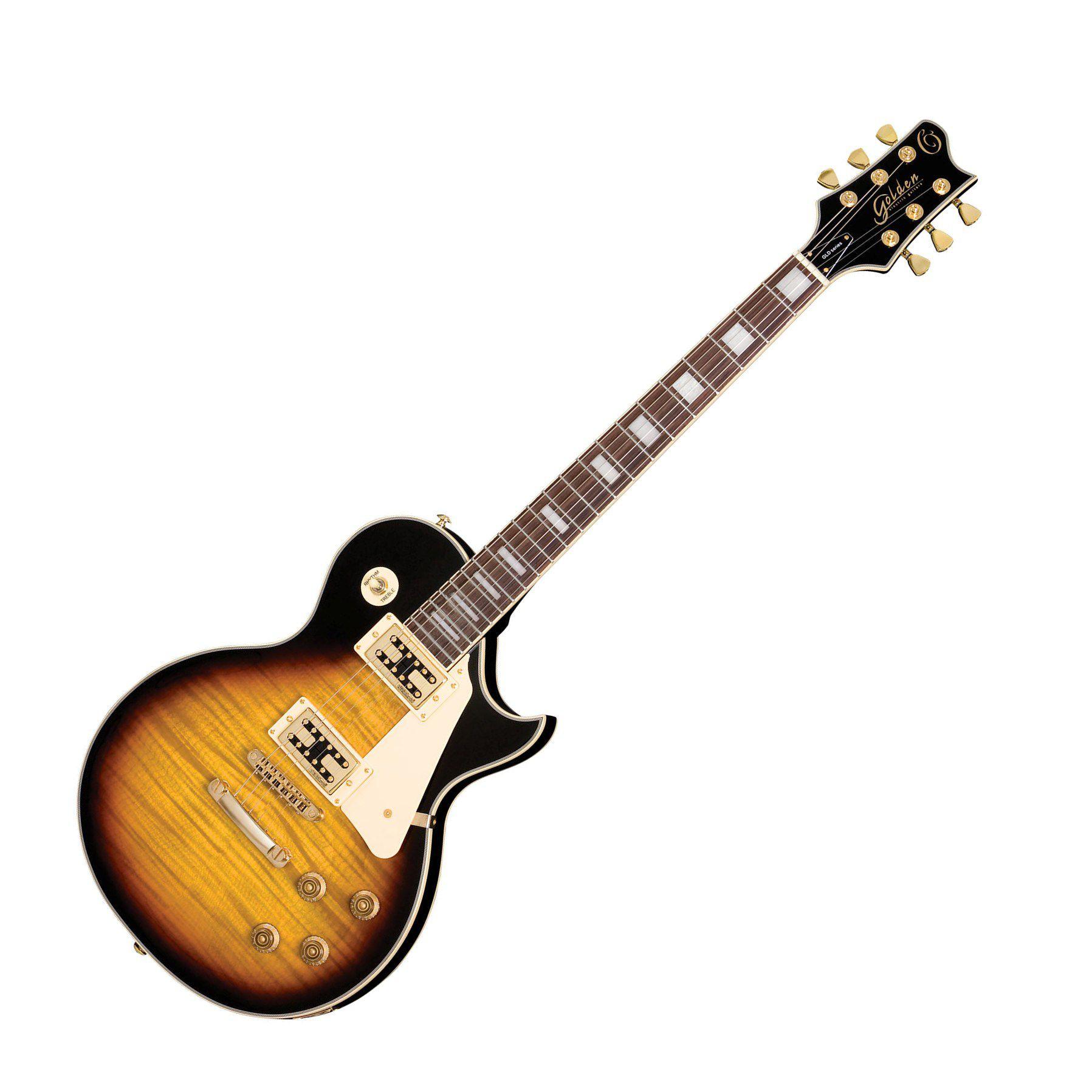 Guitarra Golden Gld155c Brb Lespaul Capitador  Wilkinson Sumburst
