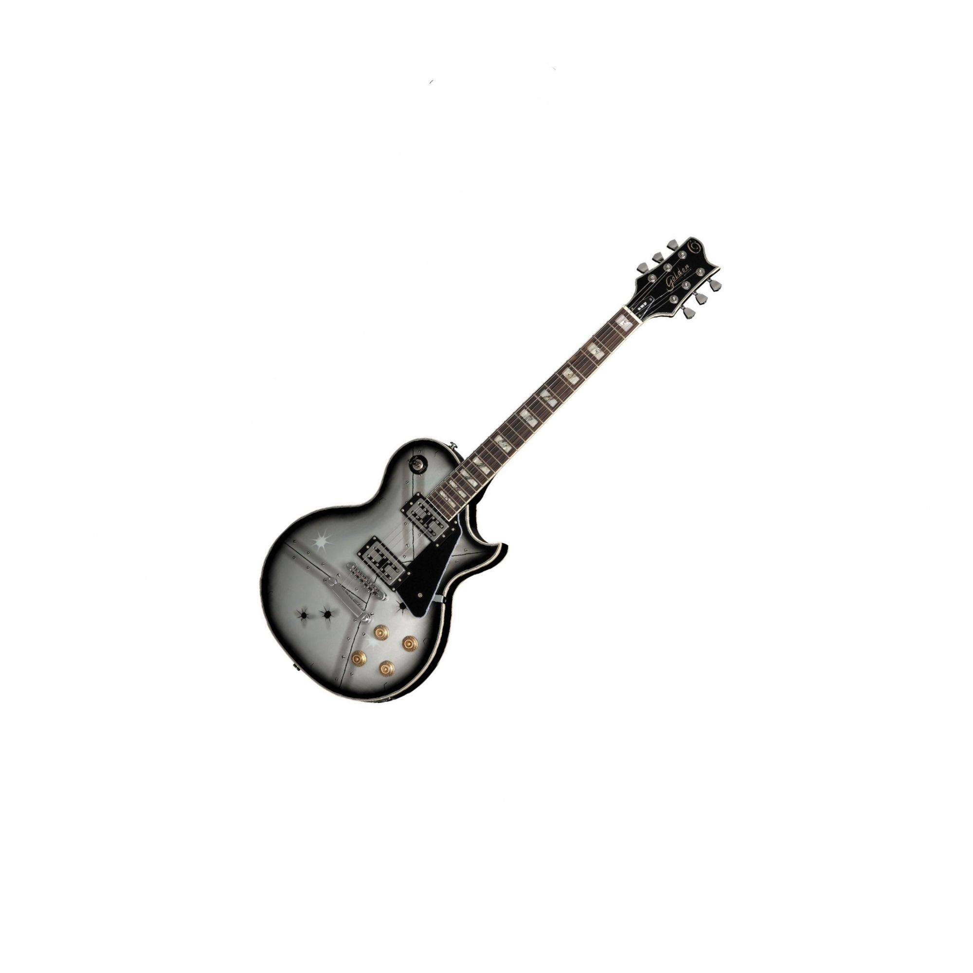 Guitarra Golden Gld160/gl106eg10 Person.chapa Lespaul Cap.wi