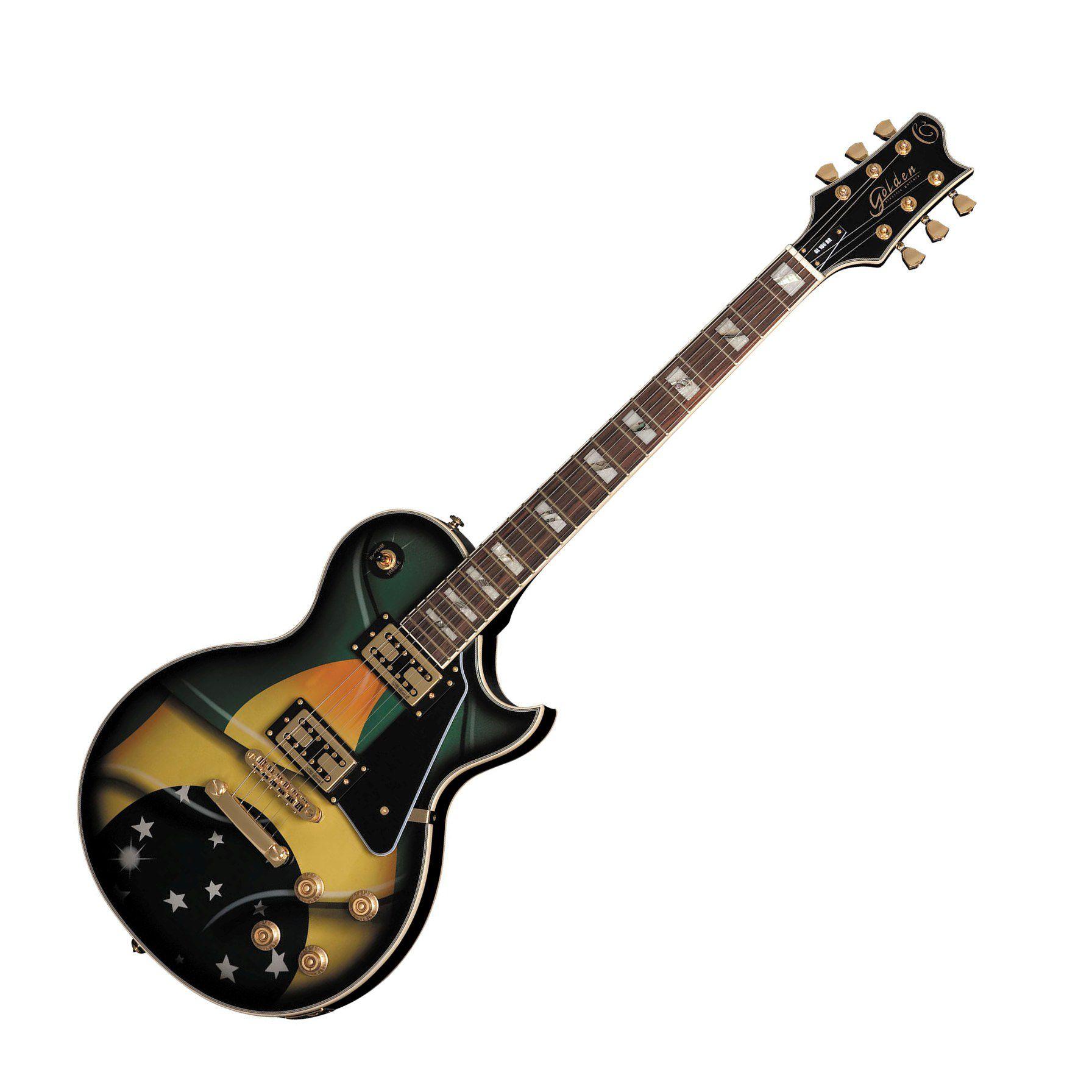 Guitarra Golden Gld160 Lespaul Capitador Wilkinson Bandeira Brasil