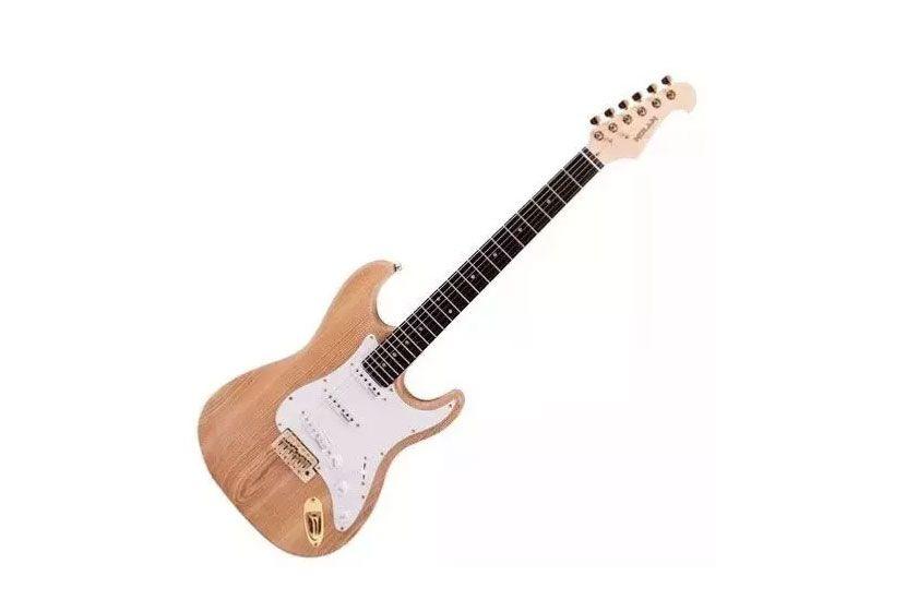 Guitarra Nolan Nst Nt 3s Strato Cap.wilkinson Natural
