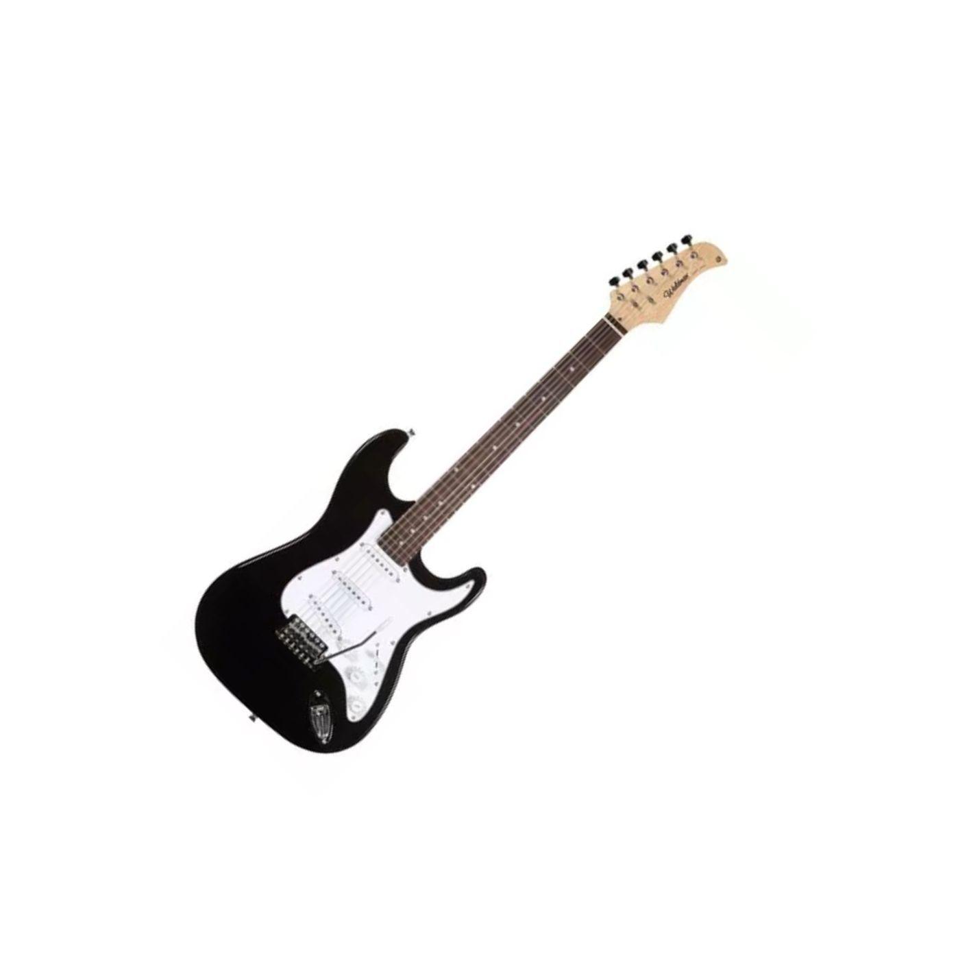 Guitarra Waldman  St111bk 3s Strato C/ Escudo Branco