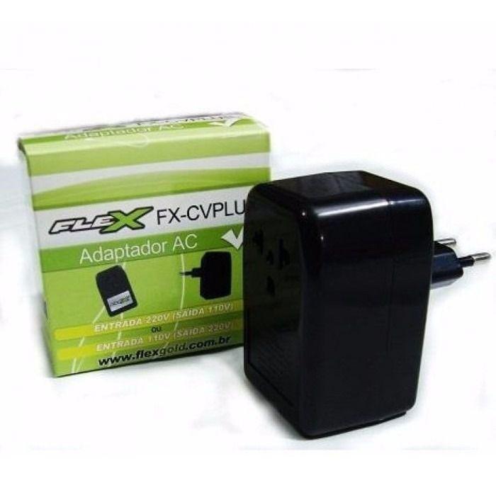 Inversor Tensao Flex FXCVPLUS Conversor Voltagem Plus Ent.110/220 Saida 220/110 Bilvolt