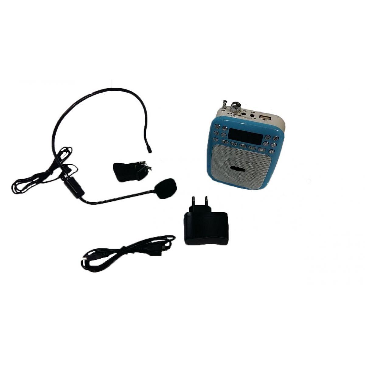 Kit Som Professor Zzhang XZ812 USB SDFM Bateria e Mic Grava
