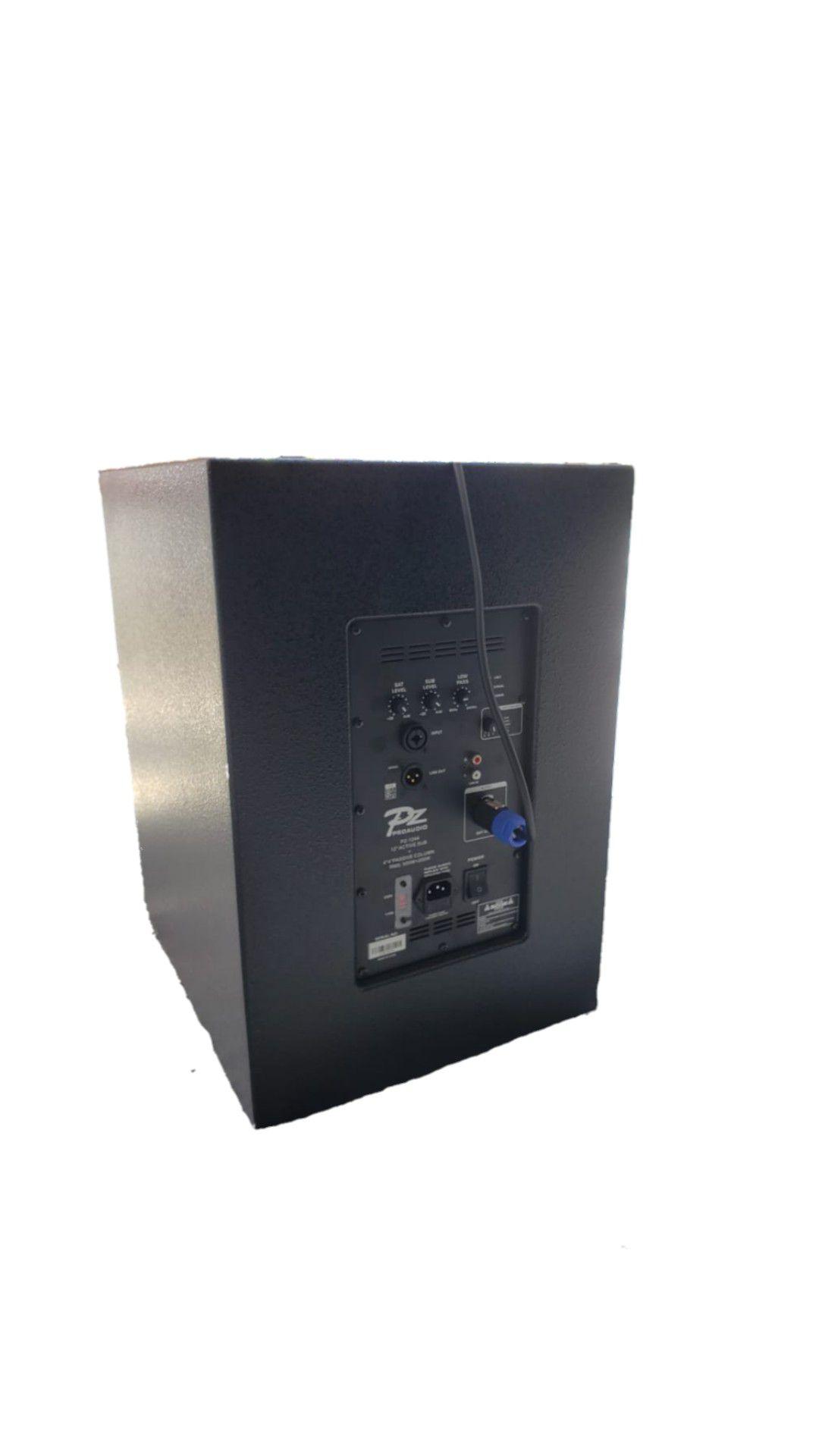 LINE VERTICAL PZ PROAUDIO PZ1244 COLUNA FAL4 NEODIMIO 200WRMS C/SUB FAL12 500WRMS .T IMPORT