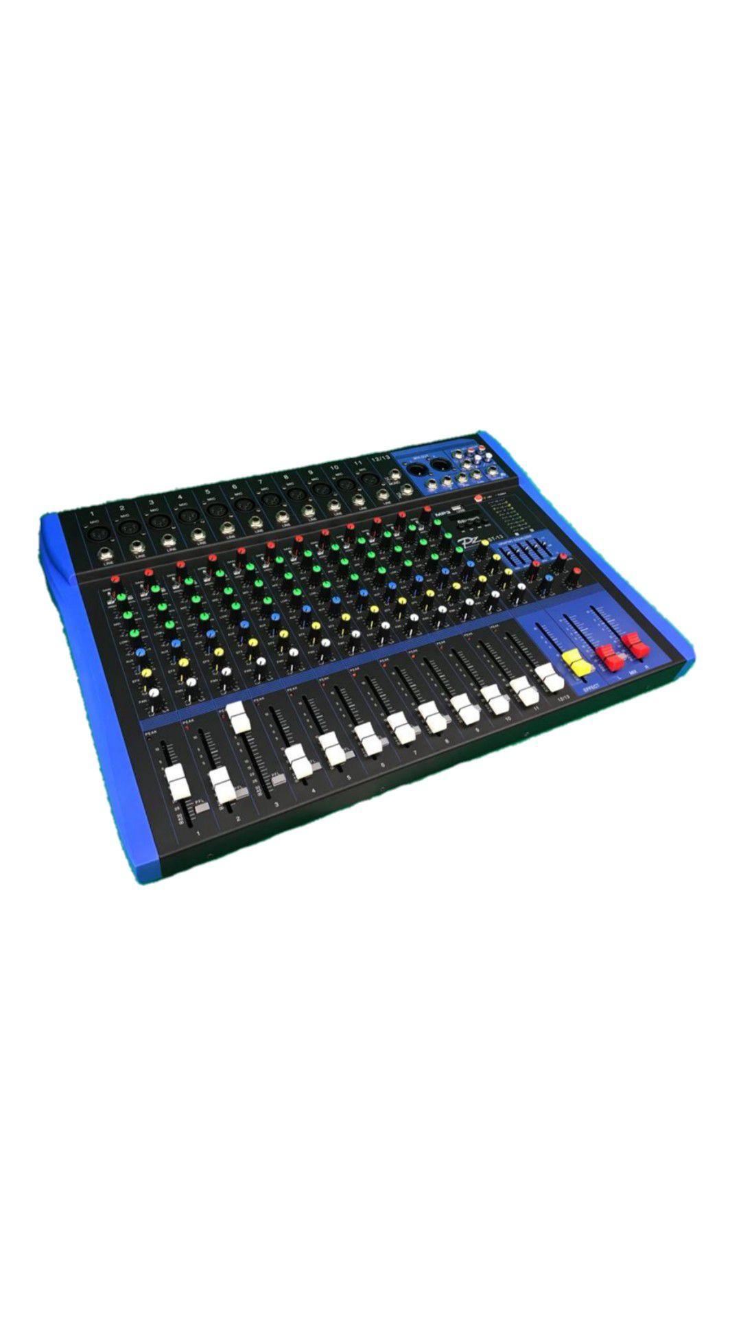 MESA.13CANAIS PZ PROAUDIO PZST13 9XLR 2P10 C/PHANTOM USB BLUETOOTH 1AUX