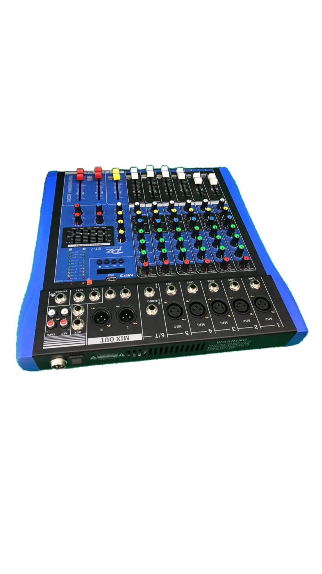 MESA.7CANAIS PZ PROAUDIO PZST7 5XLR 2P10 C/PHANTOM USB BLUETOOTH 1AUX