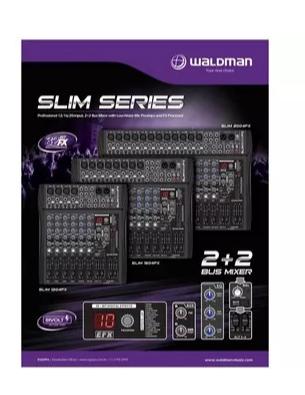 Mesa De Som 12canais Waldman Slim1204fx Efeito/ Phantom Powe