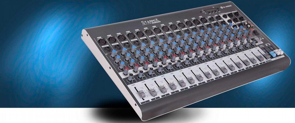 Mesa De Som 16 Canais Ll Starmix Xms1602d Bluetooth Usb,Sd,13can.Xlr,Cont.Remoto