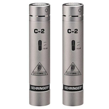 Microfone Behringer  C2 Par Condensador Cardióde Cápsula de 16MM Frequência  40-20KHZ