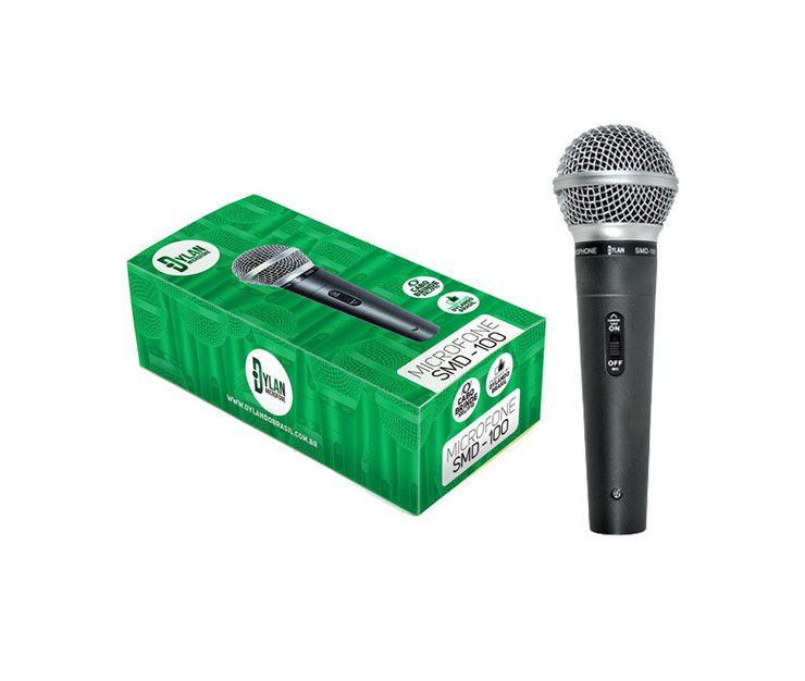 Microfone Dylan Smd100 Chave C/Cabo Xlr P10