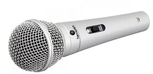 Microfone Harmonics Mdc201 Chave C/cabo Xlr P10 Prata