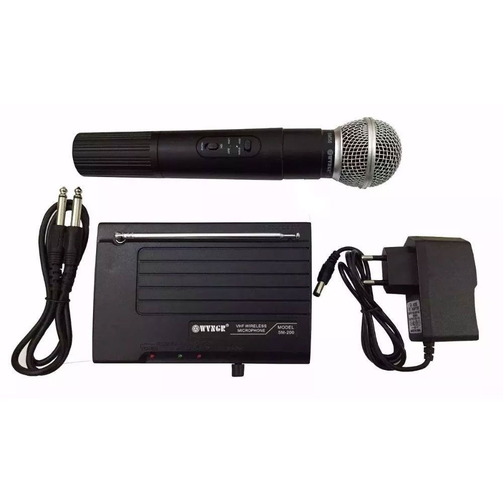 Microfone Jiaxi SM200 VHF S/Fio Mao 1Ant.1P10