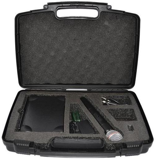Microfone Leacs Lc101 Vhf S/Fio Mão 2antenas Pp