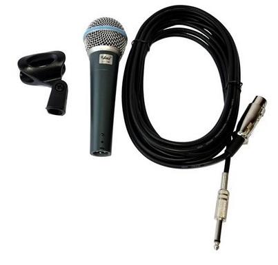Microfone Leacs Lc58 C/Cabo