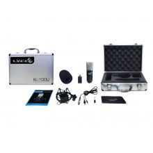 Microfone Lyco  EL100U Condenser  XLR/P10 Usb/P2