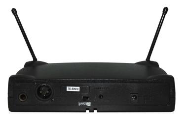 Microfone Lyco  UH05M UHF 1 Freq S/Fio Mão 2 Ant.