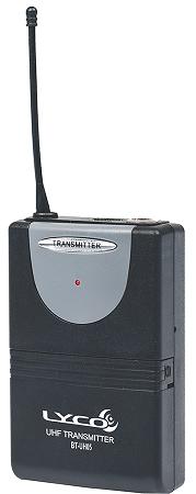 Microfone Lyco  UH06HLIHLI UHF 2 Frequência S/Fio Duplo Cabeça Lapela