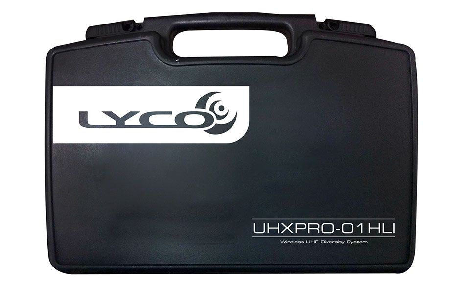 Microfone Lyco  UHXPRO01HLI UHF 100 Frequência S/Fio Headset Cabeça Lapela Transmissor
