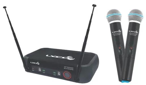 Microfone Lyco Vh202promm Vhf S/fio, Mão, Duplo, 2 Antenas