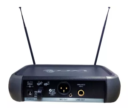 Microfone Lyco Vh202promm Vhf S/fio Mao Duplo 2 Antenas
