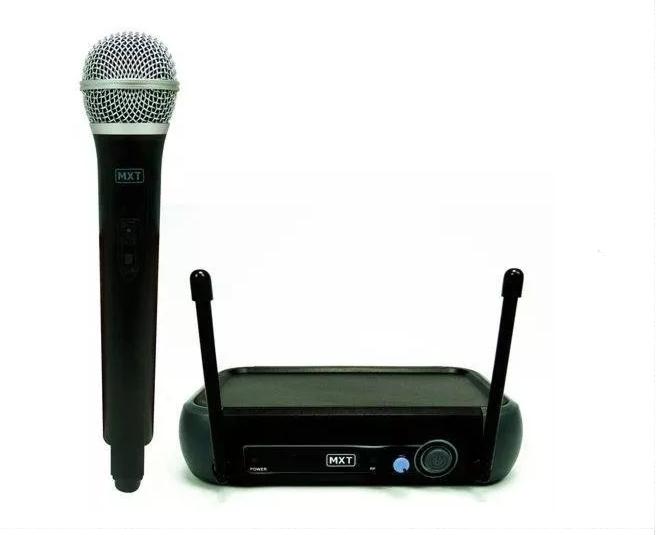 Microfone Mxt UHF202/R201M UHF 1 Freq S/Fio Mao 2Ant.