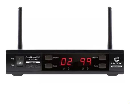 Microfone Waldman Uc2100pl Uhf 100 Freq S/fio Mao Duplo 2 An