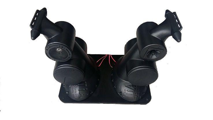 """Caixa Acústica Supertech Navesom ASA2 C/ 4 Falantes Secos de 6"""" e 2 de 5""""  2 Tweetters Propaganda Moto Bike"""