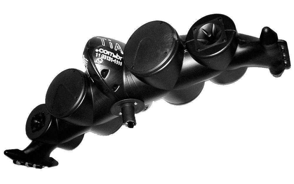 """Caixa Acústica Supertech Navesom 4 Fal. de 6"""" 4 Tw C/Cabo e Presilha, Som P/Propaganda Carro (dispensa rack, instalador e parafuso)"""