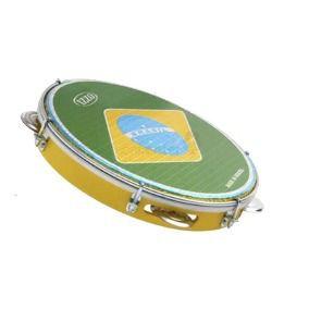 Pandeiro 10 Izzo 5964 Abs Pele Bandeira Do Brasil