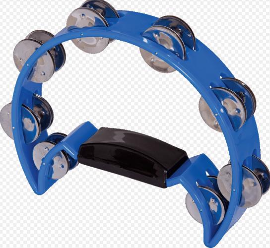 Pandeiro Meia Lua Spanking C/Manopla Plastico Azul