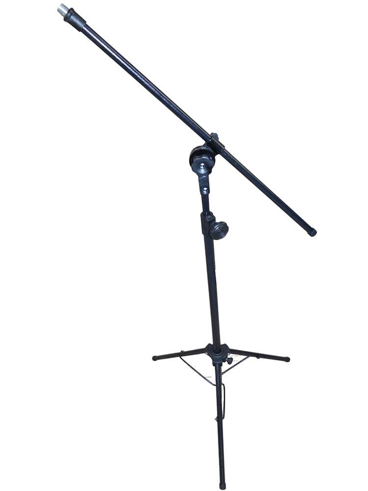 Pedestal Supertech  PM1S 1 Microfone  Girafa Pe Dobravel Preto