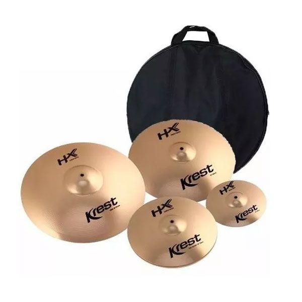 Prato Kit Krest HXSET1 Bronze B8 14,16,20 C/Splash 10 E Bag