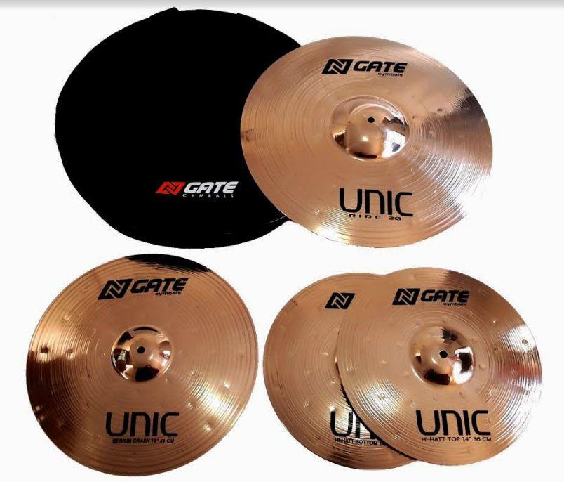 Prato Kit Ngate SETN1 Unic Bronze B8 14,16,20 C/Bag