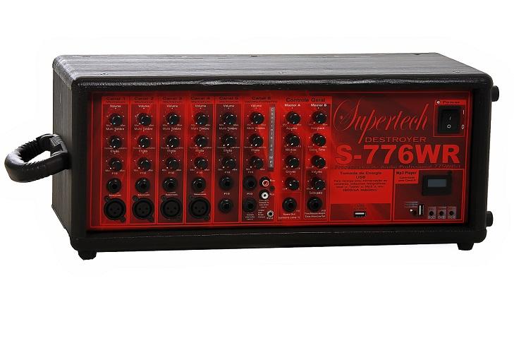 Processador Supertech  S776WR 16Entr 6 Canais 4 Cannon In/Out Line Usb Com efeito