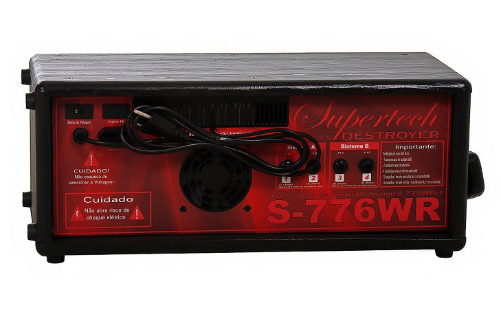 Amplificador Supertech  S776WR 16Entr 6 Canais 4 Cannon In/Out Line Usb Com efeito
