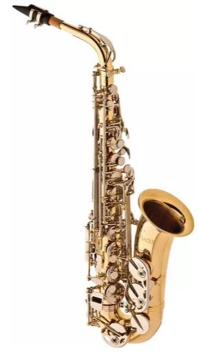 Sax.alto Eagle Sa500ln Mib.chave Niquelado/laqueado