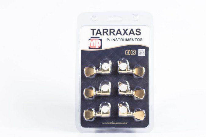 Tarraxa Violão Paganini PTG700 3 3 Blindada Dourado