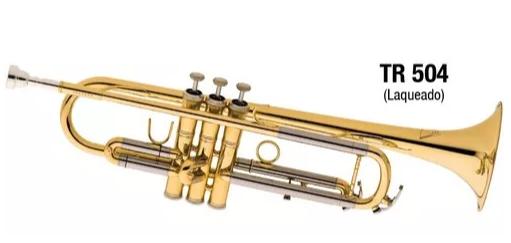 Trompete Eagle Tr504 Sib.pompas Em Alpaca Laqueado